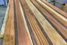 Wood ceiling installation for Mitsubishi Delica L300