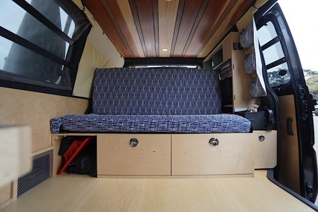Roll Over Hinge Van Bed Platform